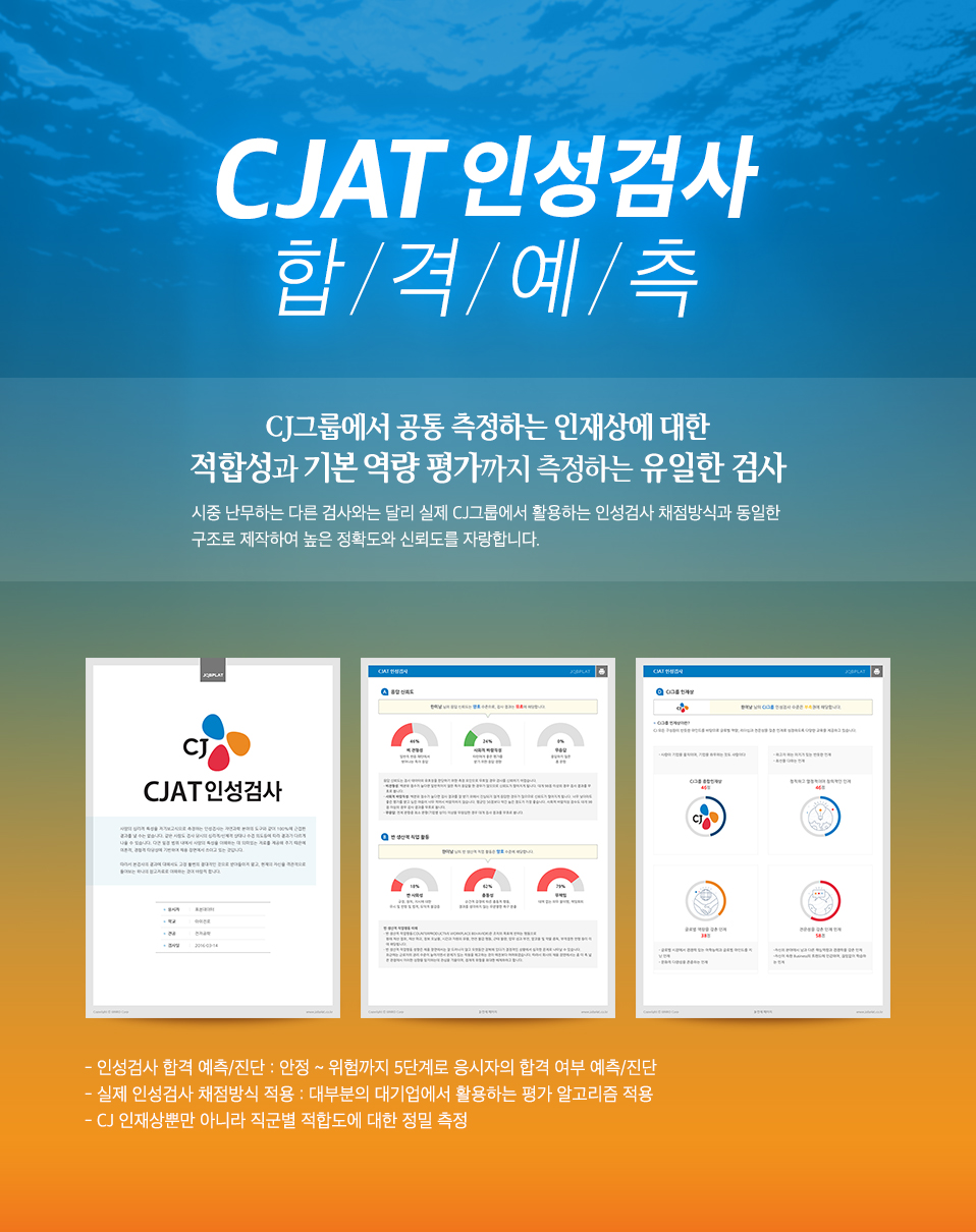 CJ CJAT 인성검사